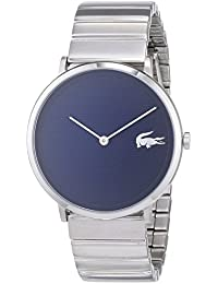 Lacoste Unisex-Adult Analogue Classic Quartz Watch with Stainless Steel  Strap 2010953 35bc9b00cb1