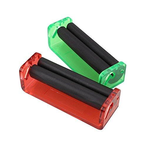 Kicode 2 pacchi 70 millimetri / 2.7' Roller Cigarette Handroller Rolling Machine Plastic Tabacco Nylon regalo