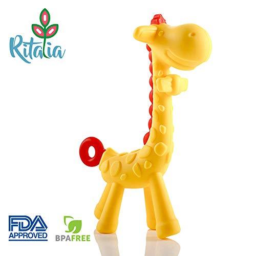 Inesita la jirafa mordedora. Juguete con caja regalo. Mordedor Ritalia. Juguete para...
