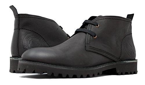 PORTMANN Chukka Boots, Herren Desert Boots, Schwarz - Oiled Black Nubuck - Größe: 45 -