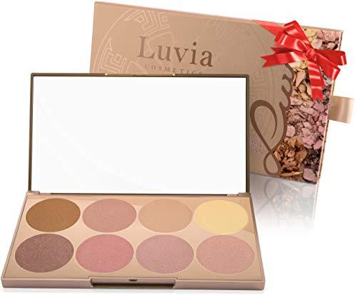 Luvia Highlighter Palette - Prime Glow Mit Extra Feiner Schimmer Und Easy To Blend Textur Für Jeden Hauttyp - Liebenswertes Weihnachtsgeschenk für Frauen