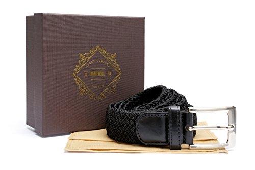 Cintura Elastica dalla 'London Goods Company'. Fa parte della Collezione Martell. Include scatola di presentazione (in edizione limitata) Vari colori disponibili - Edizione limitata- La Nuova Collezione