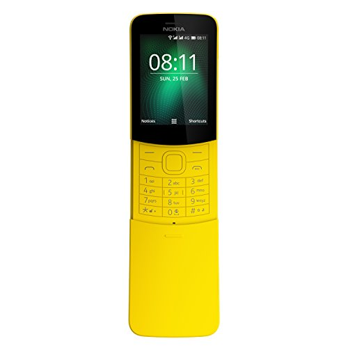 "Nokia 8110 - Mobilephone de 2.45"" (Memoria de 4 GB, cámara de 2 MP), Color Amarillo"