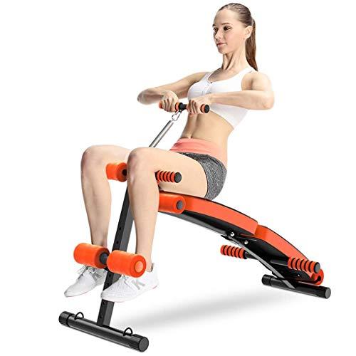 ZLL Fitness-Stuhl, Hantelbank verstellbar, Sit-up-Ab-Bank, klappbare Ablehnbank mit Reverse-Crunch-Griff für Fitnessübungen zu Hause, multifunktionale Fitnessgeräte (Ab Crunch Und Sit Up Bank)