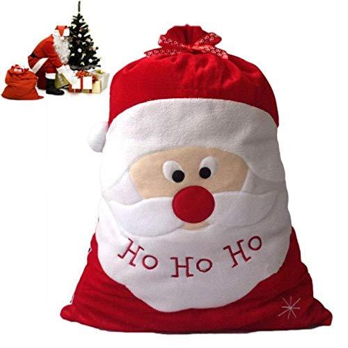 El día Navidad exquisita Santa decoración gran saco