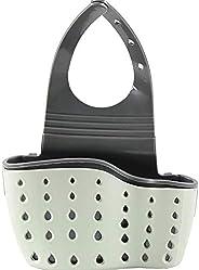 Kitchen Sink Shelf Soap Sponge Drain Rack Holder Double Decker Hanging Basket Storage Suction Cup Kitchen Orga