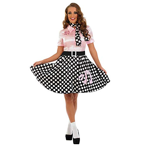 Fun Shack Damen Costume Kostüm 50s Poodle Dress Größe S