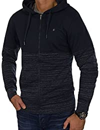 JACK & JONES Herren Hoodie jorKEAN Sweat Zip Hood Kapuzenpullover Sweatjacke Sweat Jacket Slim Fit