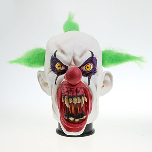 n Maske Latex Maske Halloween Karneval Kostüm Fasching Party - Bloody Mund (Halloween-kostüme Scary Clown Maske)