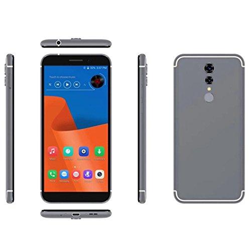 Wawer Doppel-SIM u. 2G / 3G / 4G Netz 1 + 16G entriegelt 4G Smartphone HD androiden Handy für gerades Gespräch ATT TMobile Maße 155.5 * 74 * 8.7mm (Grau) (Prepaid Tmobile Handys)