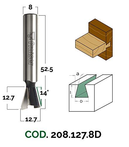 Holz Fräse für Oberfräse Industrielle Zinkenfräser - D 12.7/I 12.7/S 8/A 14 - Fraiser