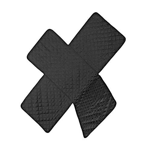 Mikrofaser-Polyester Möbelschutz Sesselschoner Gesteppt Sofa Sitzbezug - Schwarz, 1-Sitzer