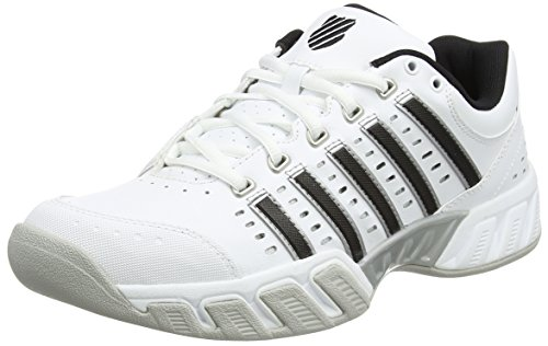 K-Swiss Performance Herren Bigshot Light LTR Carpet Tennisschuhe, Weiß (White/Black/Silver), 41.5 - Tennisschuhe Asche