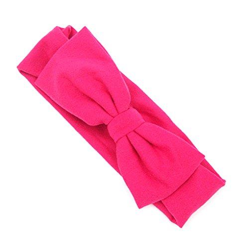 LUFA Baby Girl Bandeaux élastiques Bownot Band cheveux pour bébé nouveau-né tout-petits enfants Rose rouge