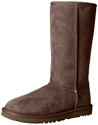 ugg-australia-classic-tall-botas-para-mujer-color-marron-chocolate-talla-39