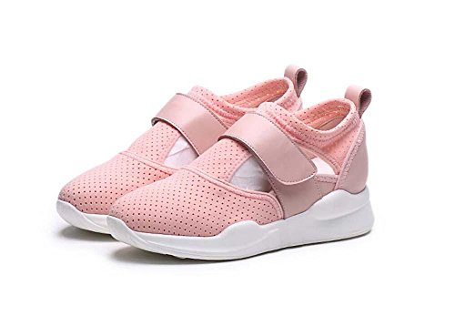 pump-pure-color-mesh-net-breathable-sports-shoes-casual-shoes-women-velcro-flat-heel-snakers-running