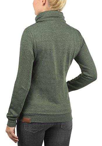 DESIRES Vicky Zipper Damen Sweatjacke Jacke Sweatshirtjacke Mit Stehkragen, Größe:M, Farbe:Climb Ivy (8785) - 3