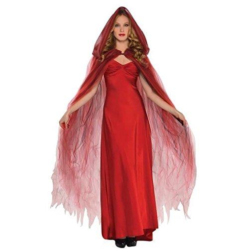 Scarlet Kostüm Vampira (Amscan International Erwachsene Geist Umhang)