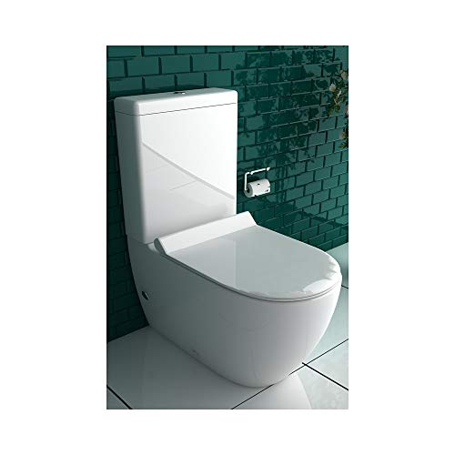 Design Stand WC mit Geberit Spülgarnitur, Keramik, Soft-Close