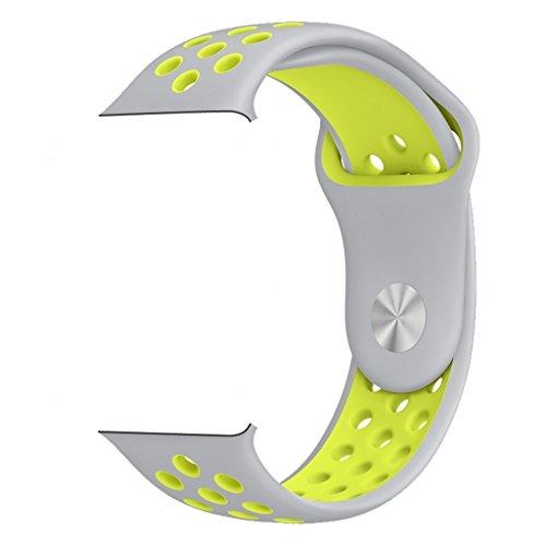 ZRO Smart Watch Armband, Soft Silikon Sport Ersatz Uhrenarmbänder für Apple iWatch Serie 3/ Serie 2/ Serie 1 42mm M/L, - Silikon-armband-nike