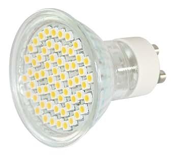 Réflecteur à 60 lED culot gU10 blanc froid, mR 16 gU 10–60–bLA-ondes