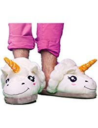 3b9c894991e7f Kenmont Unicorn Licorne Chaussons Peluche Pantoufles Hiver Coton Chaussons  Chaussures