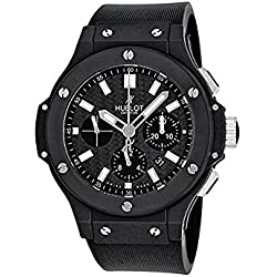 Hublot Men's 44mm Black Rubber Band Ceramic Case Automatic Carbon Fiber Dial Watch 301.CI.1770.RX
