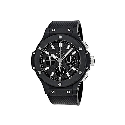 HUBLOT MEN'S 44MM RUBBER BAND CERAMIC CASE AUTOMATIC WATCH 301.CI.1770.RX