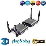 MEASY AIR PRO Wireless HDMI Extender Antenne auf to 328ft/100m Unterstützt IR - Fernbedienung Und Full HD 1080P 2.4/5GHz A/V HDMI 1.4 HDCP 1.4 (Empfänger + Transmitter)