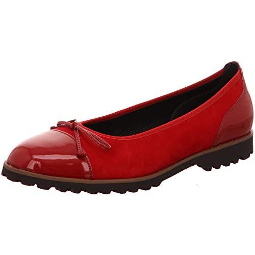 Gabor Shoes Damen Casual Geschlossene Ballerinas, Rot (Rubin/Cherry(Cogn) 13), 40.5 EU -