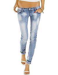 Bestyledberlin Damen Jeans Hosen, Skinny Hüftjeans, Röhrenjeans Baumwoll Stretch j30f