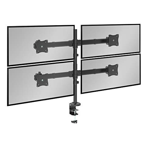RICOO Universal Monitor Multimonitor Stand TS6311 Halterung 4 Bildschirme Schwenkbar Neigbar Tischhalterung LCD LED TFT Curved Bildschirmhalterung VESA 75x75 100x100 33-69cm 13