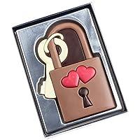 Weibler Lucchetto dell' Amore in Cioccolato al Latte - 1 x 80 Grammi