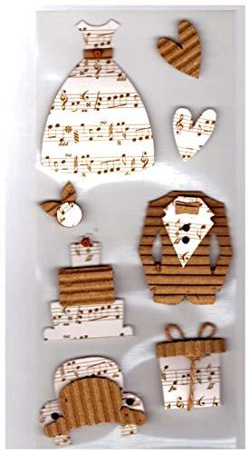 Unique Designs Scrapbook Mini Verzierungen Karton-Aufkleber für Scrapbooking, Kunstwerke, Alben, Kalender, Grußkarten & Einladungskarten, Bäume Marriage