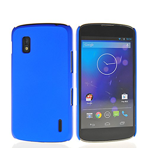 WOW Imagine(TM) Rubberised Matte Hard Case Back Cover For GOOGLE LG NEXUS 4 (Blue)  available at amazon for Rs.145