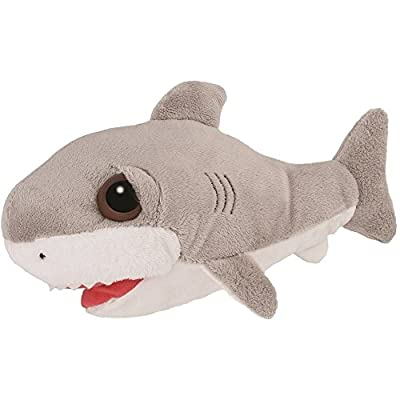 Suki Gifts Li'L Peepers Sealife Creatures Razor Shark Soft Boa Plush Toy (Grey/White)