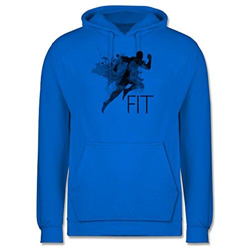 CrossFit & Workout - Fit - Splash - Männer Premium Kapuzenpullover / Hoodie Himmelblau