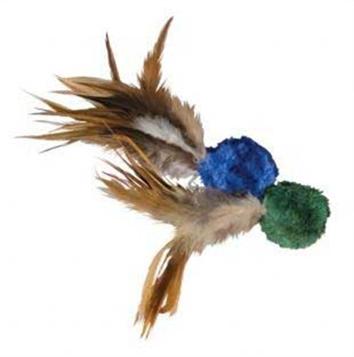 katzeninfo24.de Kong 46619 Naturals Crinkle Ball with Feathers