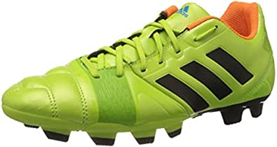 adidas Men's Nitrocharge 3.0 TRX FG Black and Green Football Boots - 10 UK