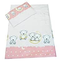 Toddler Cot Bed Bedding Set Duvet Cover Pillowcase 120x150 cm 100% Cotton, Many Designs in Stock