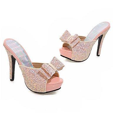 LvYuan Sandali-Matrimonio Formale Serata e festa-Club Shoes-A stiletto-Lustrini Materiali personalizzati-Nero Rosa Bianco Pink