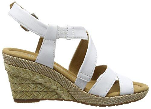 Gabor Barletta, Sandales Compensées femme Blanc (White Leather (Bast)