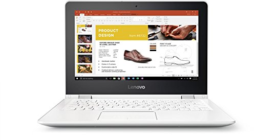 Lenovo Yoga 300 29,46cm (11,6 Zoll HD Glare) Convertible Laptop (Intel Celeron N3060, 4GB RAM, 500GB HDD, Intel HD Grafik 400, Windows 10 Home) weiß (Snow White)