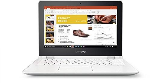 Lenovo YOGA 300 29,46cm (11,6 Zoll HD Glare) Convertible Laptop (Intel Celeron N3060, 4GB RAM, 500GB HDD, Intel HD Grafik 400, Windows 10 Home) weiß (Snow White)