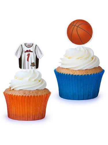 Basketball Cupcake Picks - 12/Pkg.