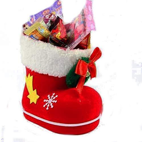 Piccoli monelli porta caramelle cioccolatini natale adatto anche come porta penne o porta oggetti porta posate a forma di stivale babbo natale