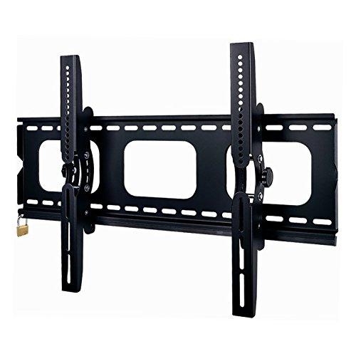 "Duronic TVB103M Super Heavy Duty Premium Lockable Black Universal 33""-65"" LCD/Plasma/LED/3D/4K TV Wall Mount Bracket Tilt with [Security Locking Bar] - Max VESA 600 x 400"