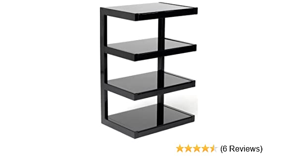 Norstone Esse 4 Shelf with Glass for Hi-Fi Systems - Black