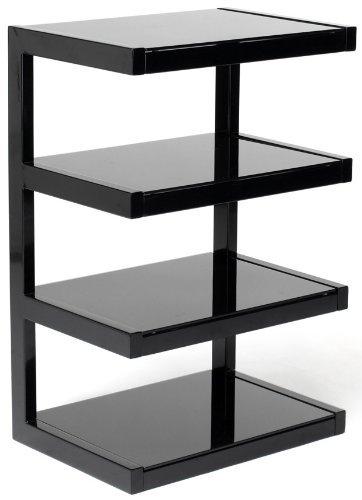 NorStone Esse Hifi - Estantería para equipo de sonido (4 estantes), color negro