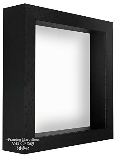 Black Shadow Box Tief Display Bild Foto 3D Herz Holzrahmen Platz 12x12 -